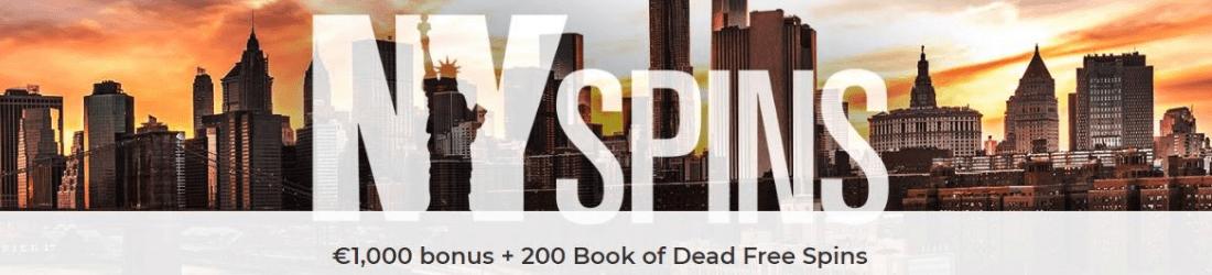 nyspins €1000 bonus 220 free spins