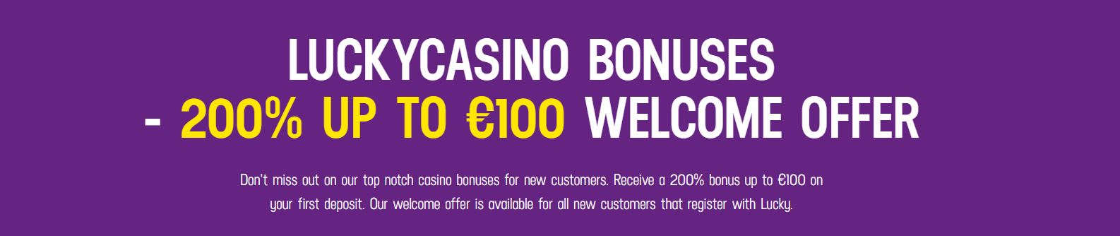 lucky casino 200% bonus